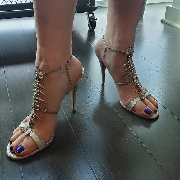 Giuseppe Zanotti Fishbone Heels | Poshmark